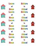 Homework Folder Labels- Leave at Home and Return to School