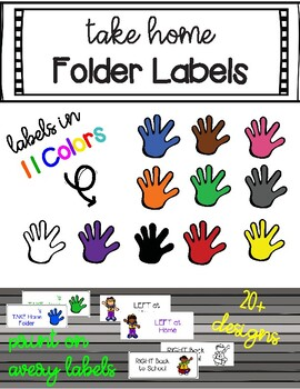 Take Home Folder Labels Printable On Avery Adhesive Labels