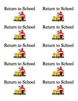 Take Home Folder Labels-Return to School