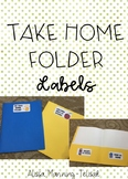Take Home Folder Labels (with Back to School Label)