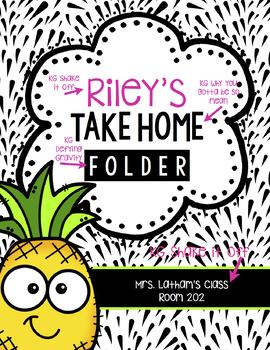 Take Home Folder Pack & More: Editable Pineapples