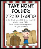 Take Home Folder: Pirate Theme
