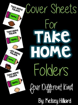 Take Home Folder Sheet (Bright Green Pencil with Kids) can