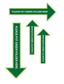 Take Home Folder Sign