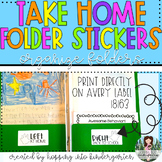 Take Home Folder Stickers for Avery 18163 Labels