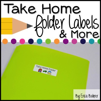 Take Home Folder and Stay in School Folder Labels and Parent Letter