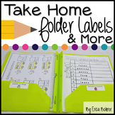 Take Home Folder and Stay in School Folder Labels