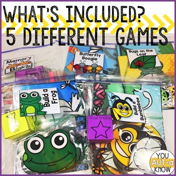 Take Home Games APRIL Edition; 5 Games for Home or School Use