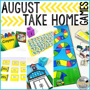 Take Home Games AUGUST Edition; 5 Games for Home or School Use