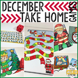 Take Home Games DECEMBER Edition; 5 Games for Home or School Use