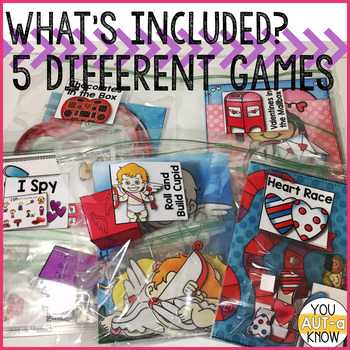 Take Home Games FEBRUARY Edition; 5 Games for Home or School Use