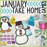 Take Home Games JANUARY Edition; 5 Games for Home or School Use
