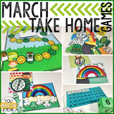 Take Home Games MARCH Edition; 5 Games for Home or School Use