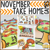 Take Home Games NOVEMBER Edition; 5 Games for Home or School Use