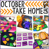 Take Home Games OCTOBER Edition; 5 Games for Home or School Use