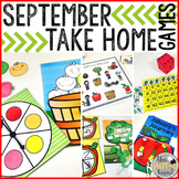 Take Home Games SEPTEMBER Edition; 5 Games for Home or School Use