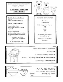 Take-Home Handouts for Common Core Reading Street - Kindergarten Unit 4