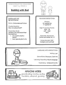 Take-Home Handouts for Common Core Reading Street - Kindergarten Unit 6