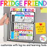 Take Home Learning Resource with Teacher Contact & Student Log in | Editable
