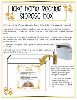 Take Home Library Box Craft