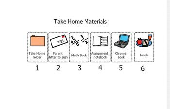 Take Home Materials checklist