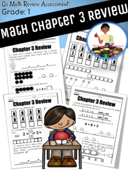 """Chapter 3 Review """"Go Math"""" Form : B Included"""