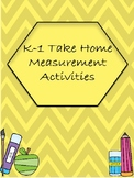 Take Home Measurement Activities for Kinder and First Grade