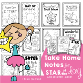 Take Home Notes / Awards - Star of the Day and So Much More