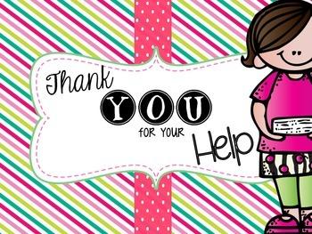Take Home Parent Volunteer Envelope Label