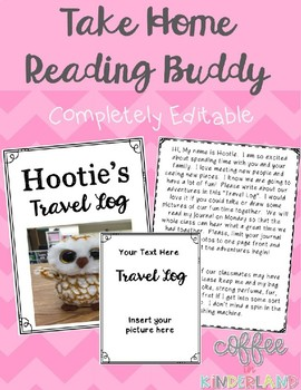 Take Home Reading Buddy EDITABLE