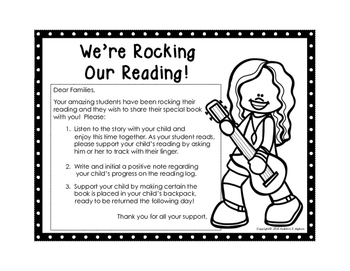 Take Home Reading Envelopes (I'm Rocking My Reading) and Supporting Materials