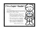 Take Home Reading Envelopes (I'm a Super Hero) and Support