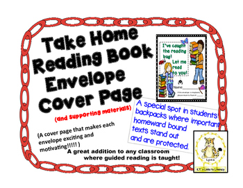 Take Home Reading Envelopes (I've Caught the Reading Bug) and  Materials