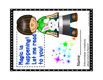Take Home Reading Envelopes (Magic is Happening) and Supporting Materials