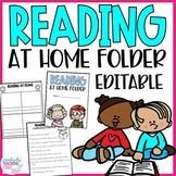 Reading at Home Folders EDITABLE Distance Learning