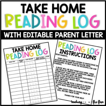 At Home Reading Log And Letter To Parents Worksheets