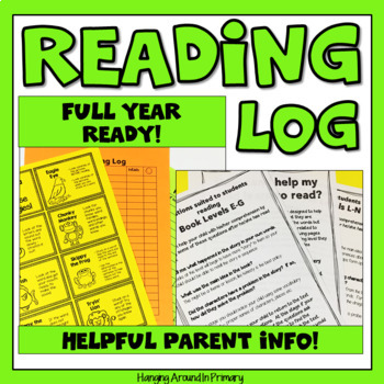 Home Reading Log With Editable Parent Letter And Tips TpT