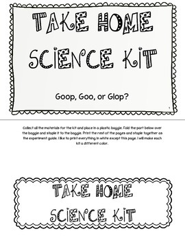 Take Home Science Kit Printable - Goop, Goo or Glop