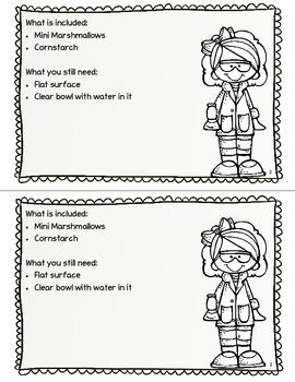 Take Home Science Kit Printable - Marshmallow Sinkers