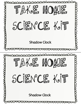 Take Home Science Kit - Shadow Clock