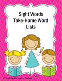 Take Home Sight Word List