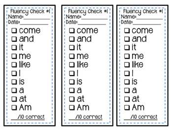Take Home Sight Word Lists