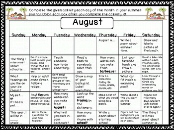 Take Home Summer Activity Packet!  Perfect Summer Practice for Primary Students!