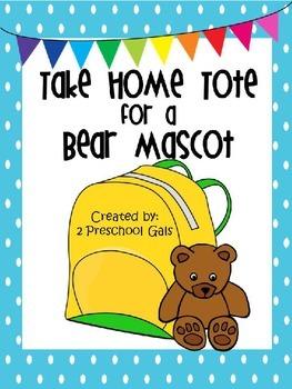 Take Home Tote for a Teddy Bear Mascot