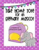 Take Home Tote for an Elephant Mascot