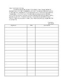 Take-Home Work Envelope Parent Signing Sheet