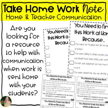 Take-Home Work Note