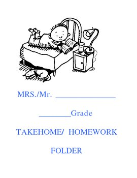 Take Home and Home Work Folder Covers
