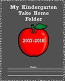 Take Home folder Kindergarten 2017-2018