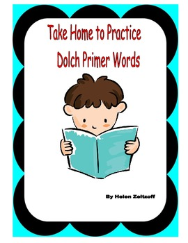 Free Take Home to Practice Dolch Primer Words
